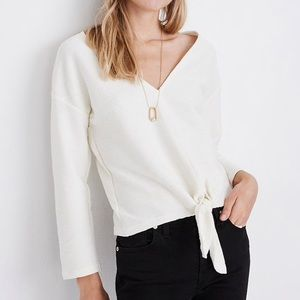 Madewell | Long Sleeve Tie Front Top